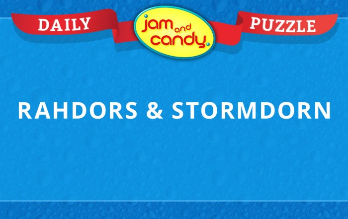 Jam and Candy Daily Puzzle 022418